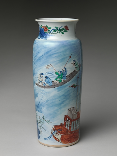 Vase with Scene from The Story of the Blue Robe