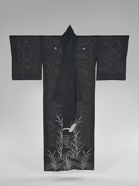 Summer Kimono with Sagi and Reeds