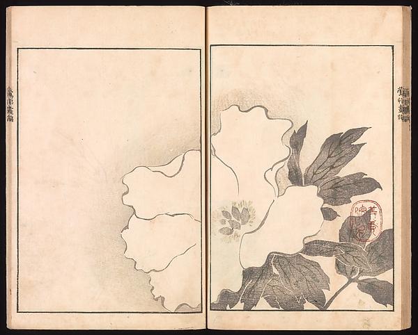 池田孤邨画 『抱一上人真蹟鏡』  <br/>Ōson (Hōitsu) Picture Album (Ōson gafu)