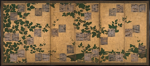 Anthology of Japanese and Chinese Poems (Wakan rōeishū) with Underpainting of Arrowroot Vines