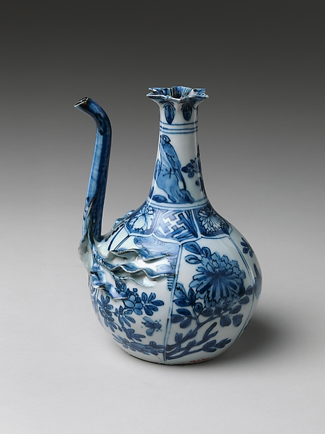 Pouring Vessel (Kendi) with Flowers and Birds