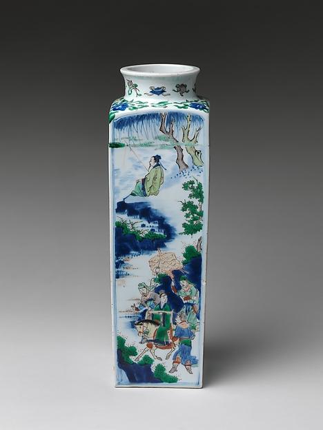 Vase with King Wen Visiting the Scholar Jiang Taigong