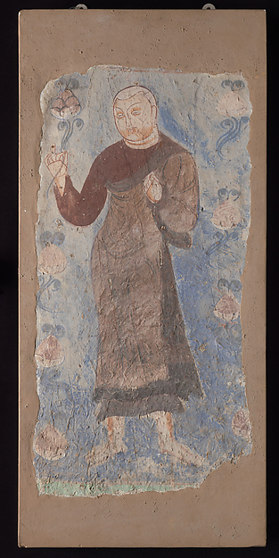 Monk Holding a Lotus