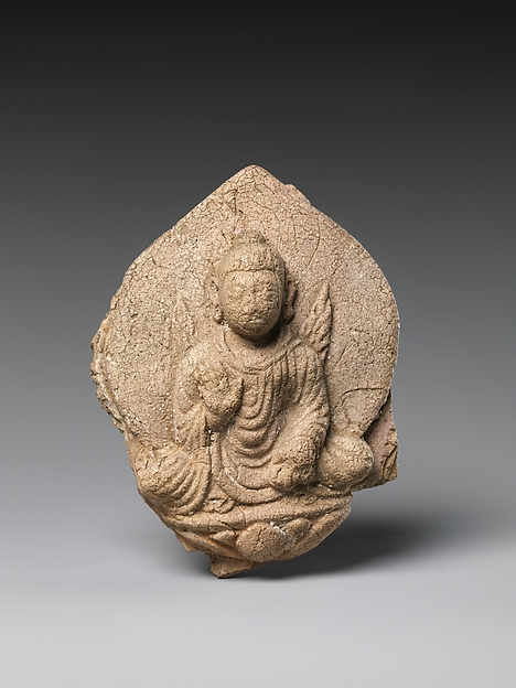 Seated Dipankara Buddha with Flaming Shoulders