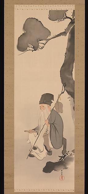 神坂雪佳筆 寿老人図     <br/>Jurōjin