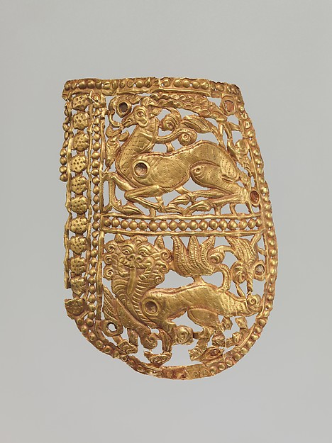 Clothing Plaque with Antelope and Tiger