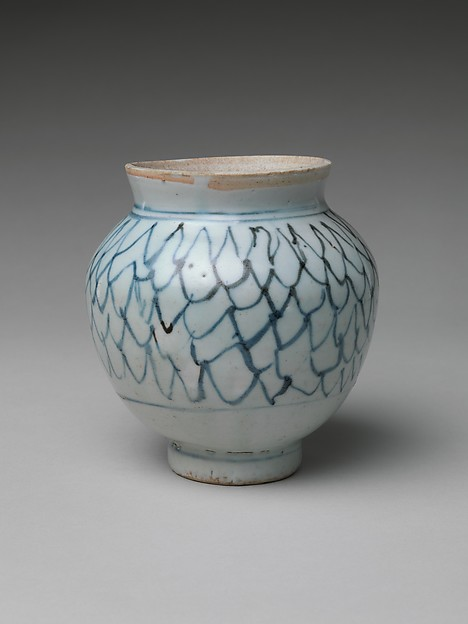 Jar with Netting Design