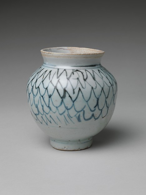 染付網文広口瓶