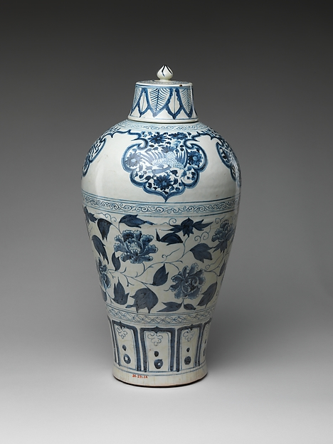 Bottle with Peony Scroll