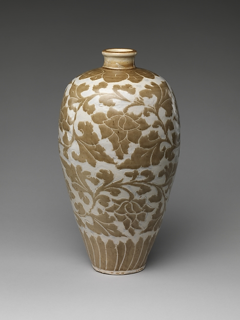 Vase with Peony  Scroll