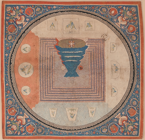 Cosmological Mandala with Mount Meru