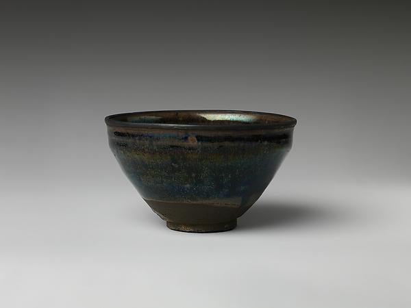 "日本 瀬戸天目茶碗 (18世紀)<br/>Teabowl with ""Hare's-Fur"" Glaze"