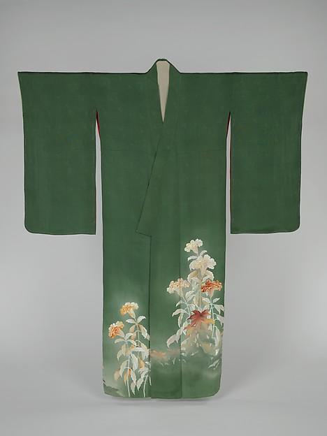 Kimono with Cockscomb Flowers