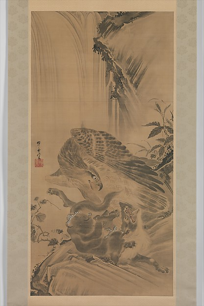 Eagle Attacking a Mountain Lion