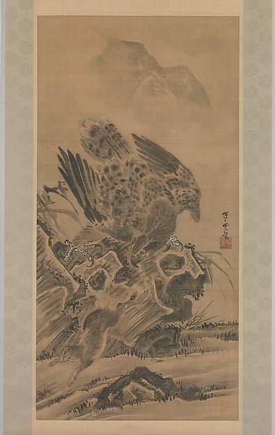 Eagle Pursuing Rabbit