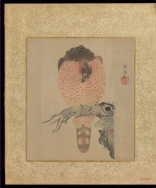 十鷹書画冊<br/>Album of Hawks and Calligraphy