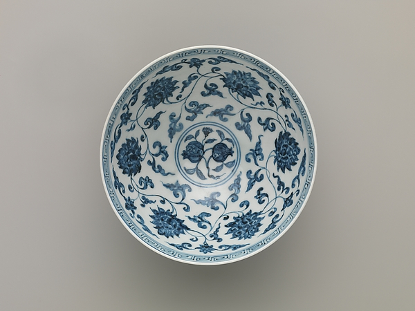 Bowl with Peonies, Narcissus, and Pomegranates