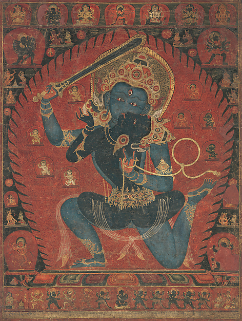 Painting of Achala the Destroyer of Ignorance.