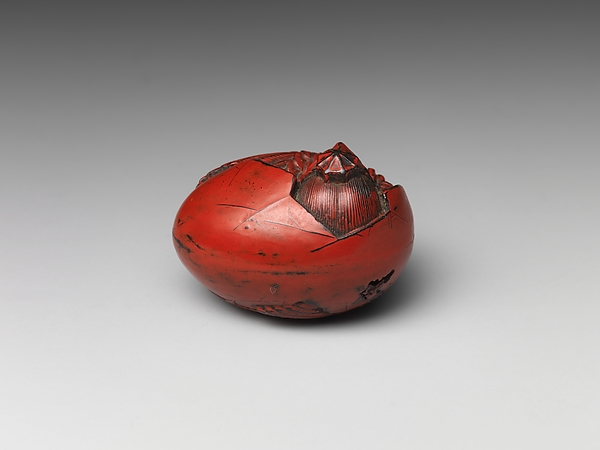 Netsuke of Tengu Hatching from an Egg