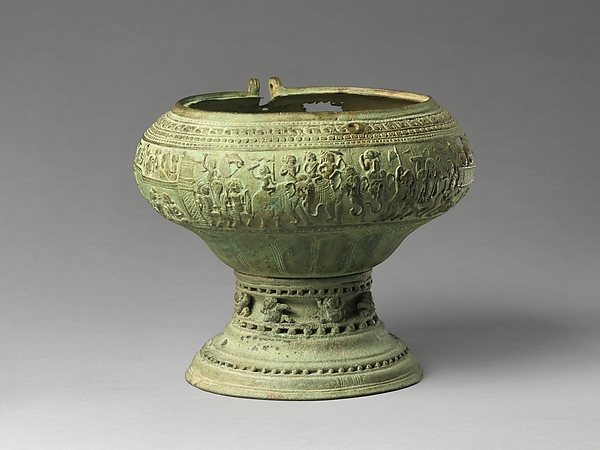 Footed Bowl with Scenes from the Gauttila Jataka