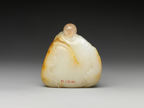 Snuff Bottle with Two Boys and Lotus