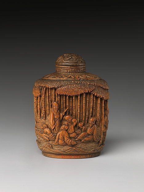 Snuff Bottle with Seven Sages of the Bamboo Grove