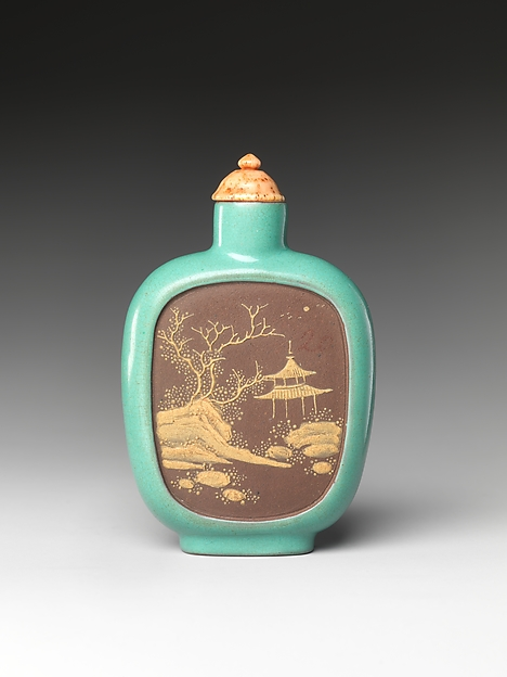 Snuff Bottle with Landscape