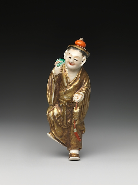 Snuff Bottle Depicting the Immortal Liu Hai