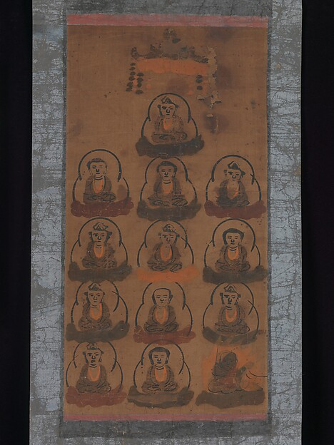 十三仏図大津絵<br/>Ōtsu-e of Thirteen Buddhist Deities