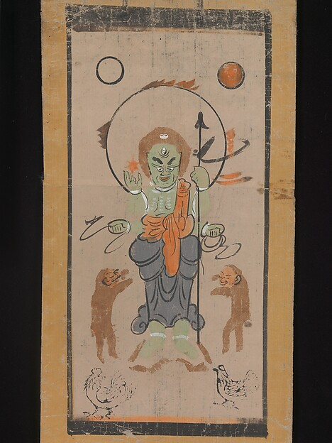 Ōtsu-e of Shōmen Kongōyasha (Vajrayaksha)