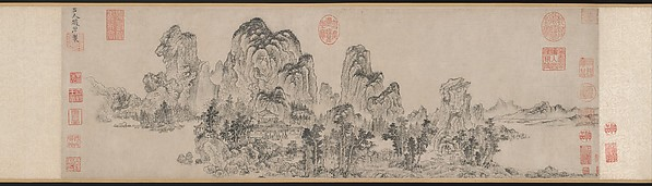 元    趙原 (元)    倣燕文貴范寬山水圖    卷<br/>Landscape in the Style of Yan Wengui and Fan Kuan