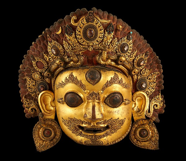 Head of Bhairava, the Wrathful Form of Shiva
