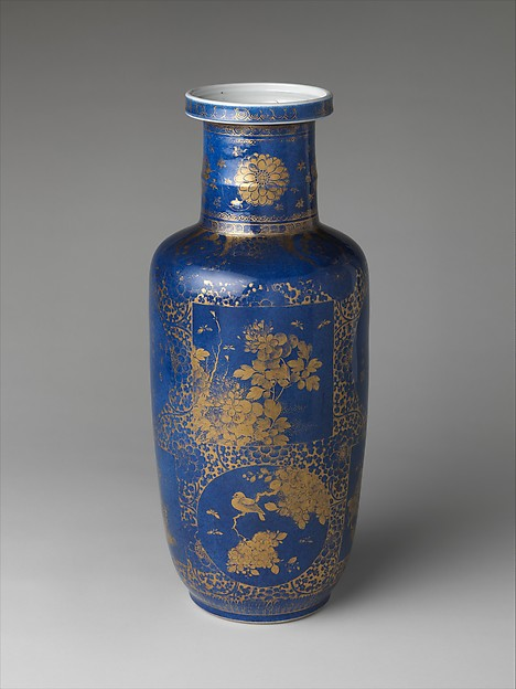 Vase with flowers, birds, and poems