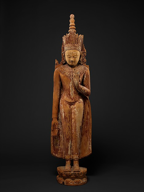 Standing Crowned and Jeweled Buddha