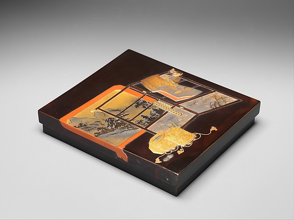 Writing Box with Design of Screen, Robe Rack, and Shell Game Set
