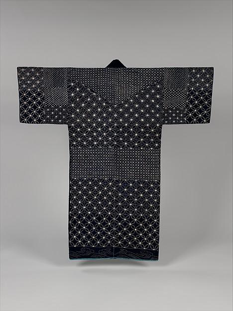 日本と米国の国旗を纏った日本女性<br/>Sashiko Jacket