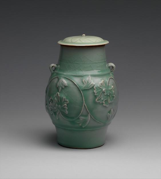 Jar with peony scroll