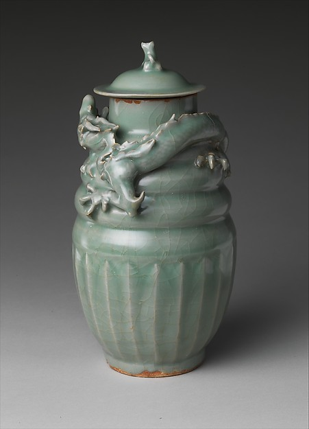 Funerary jar with dragon