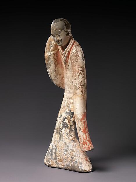 西漢 彩繪陶舞俑<br/>Female Dancer
