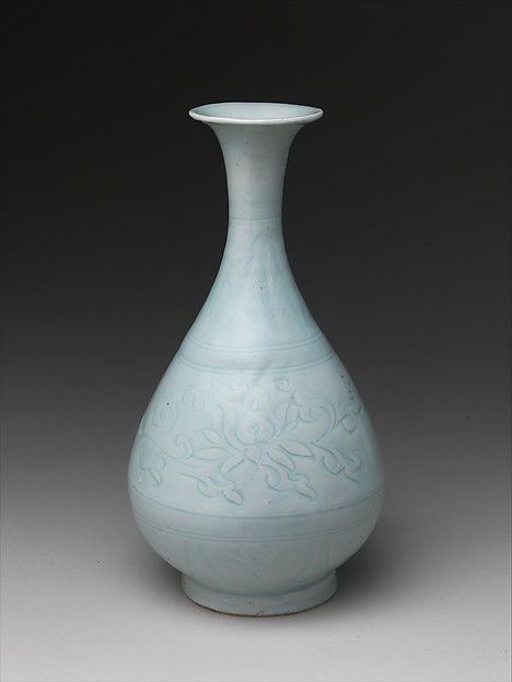 Bottle with Lotus Scroll
