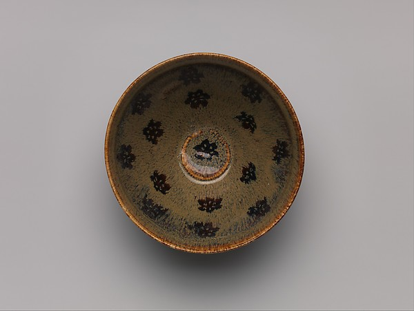 Tea bowl with plum blossoms