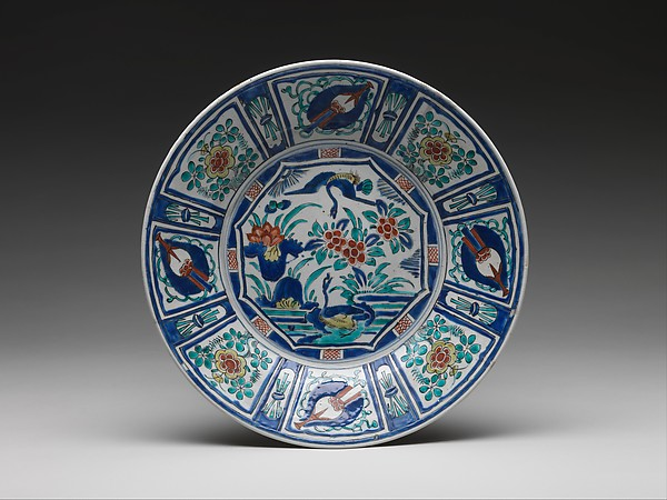 Dish with Geese and Rocks