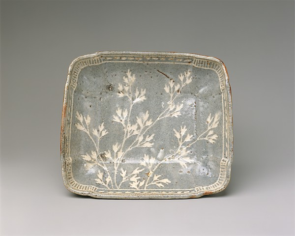 Dish with Design of Grasses