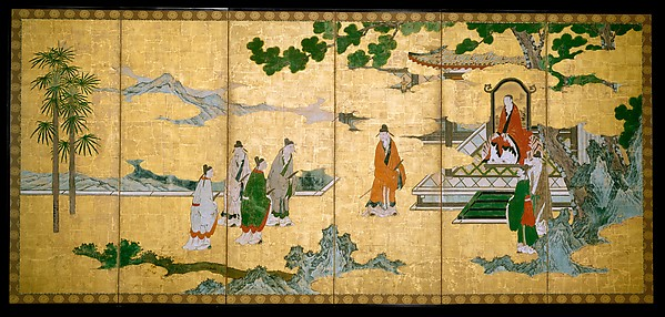 The Court Visit of the Four Sages of Mount Shang and Su Shi's Visit to the Wind and Water Cave