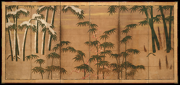 四季竹図屏風<br/>Bamboo in the Four Seasons