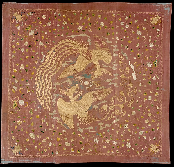 Canopy with Phoenixes and Flowers
