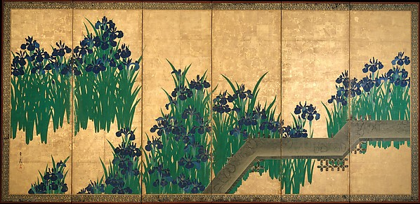 八橋図屏風 