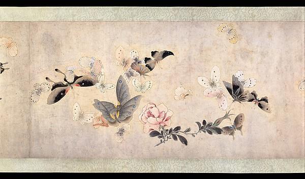 清  傳馬荃  花蝶圖  卷<br/>Flowers and Butterflies