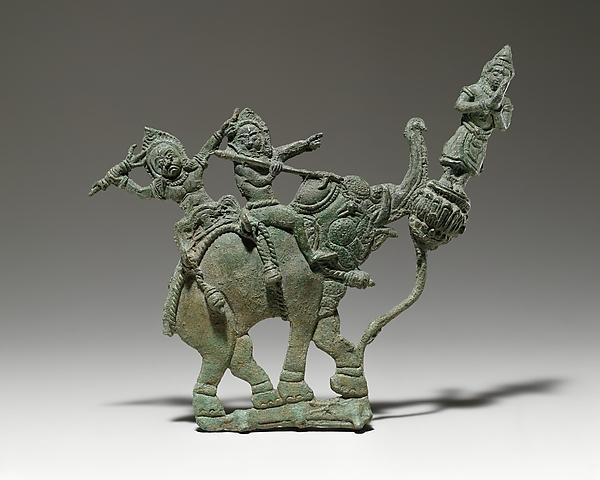 Demons on an Elephant with Adorant