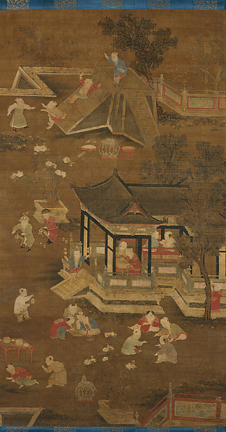 元/明    佚名    嬰戲圖    軸<br/>Children Playing in the Palace Garden